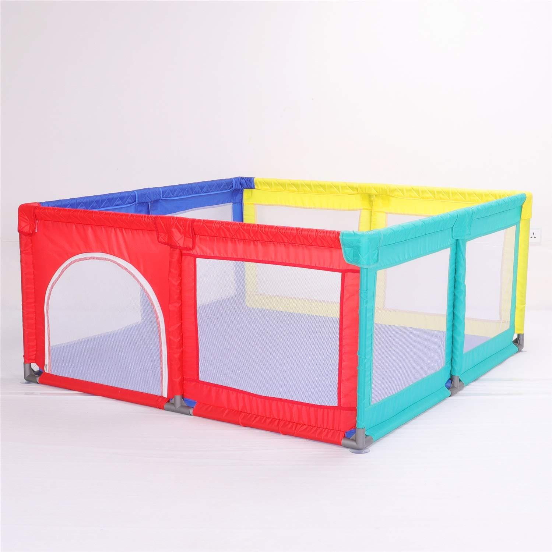 ベビーサークルベビーフェンス家庭用飛散防止おもちゃハウス子供用セーフティプレーヤー、クロールマット、100ボール、高さ70cm、サイズオプション (サイズ さいず : 180×190×70cm) 180×190×70cm  B07QK7L5H4