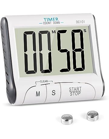Reloj Temporizador YXwin Temporizador Digital de Cocina con Cuenta Atrás, Soporte Extraíble y Pantalla LCD