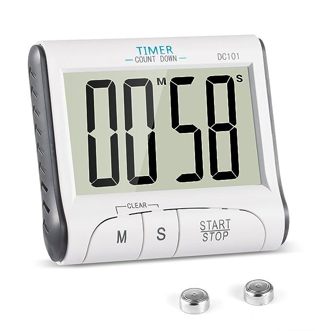45 opinioni per Timer Cucina, YXwin Magnetico Digitale Elettronico 24 Ore Timer da Cucina con