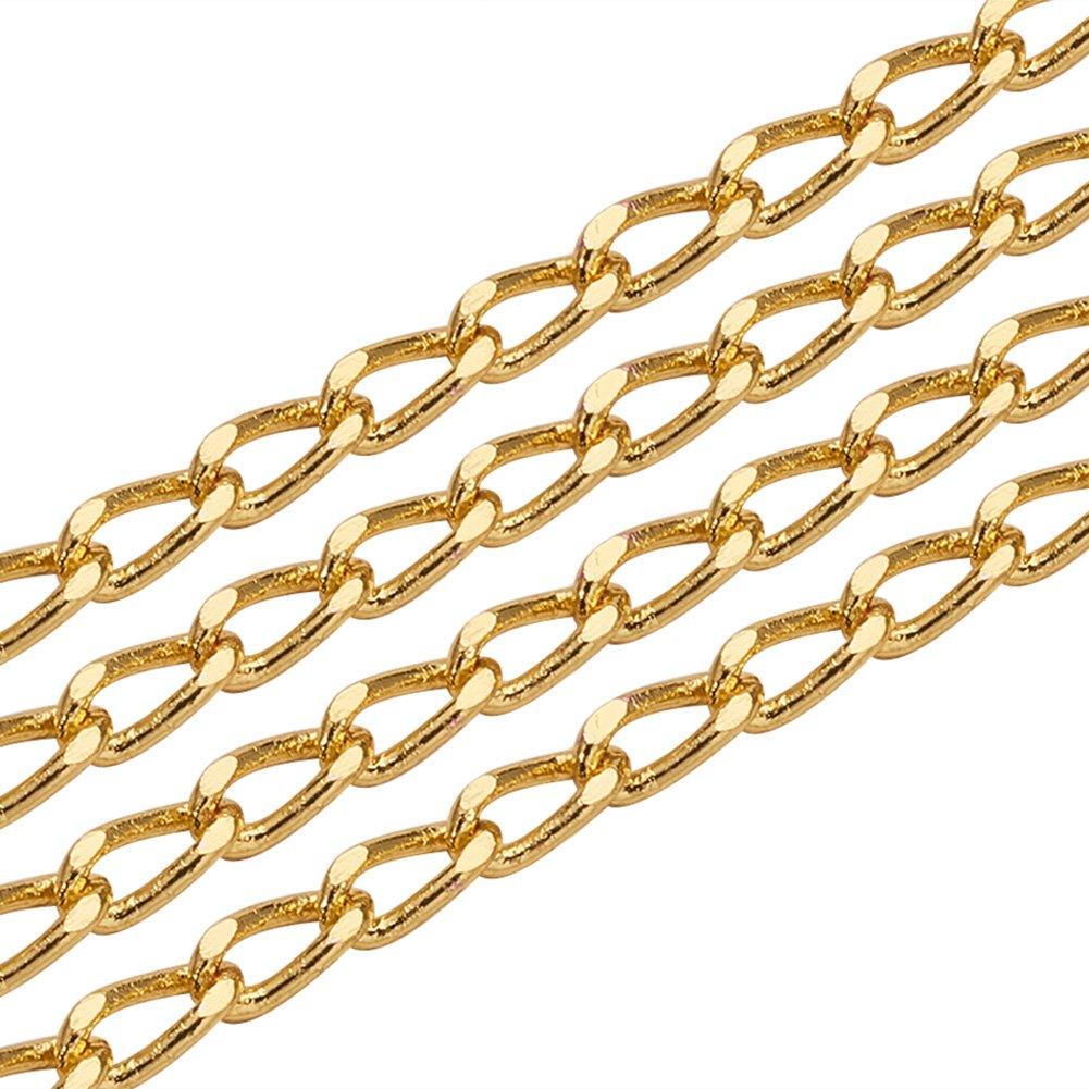 Lien: 7x3x2mm Bobine Environ 5 m//Rouleau Chaines Electroplate Laiton Drop Chaines Tordues Chaines de Frein Dore pandahall Elite