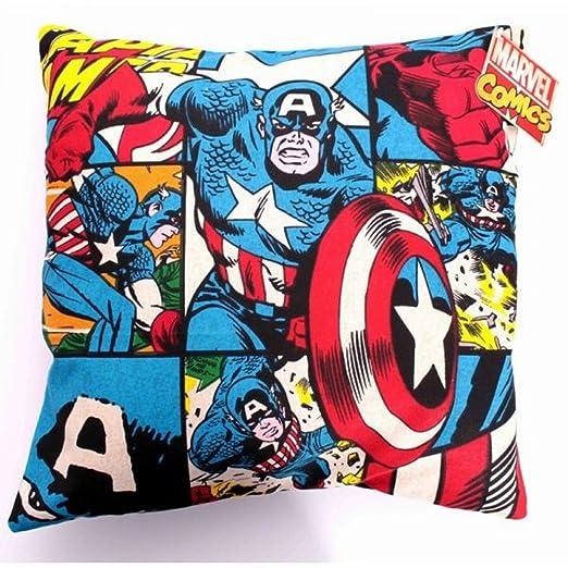 Marvel Comics - Funda de cojín de - de cómic de Capitán ...