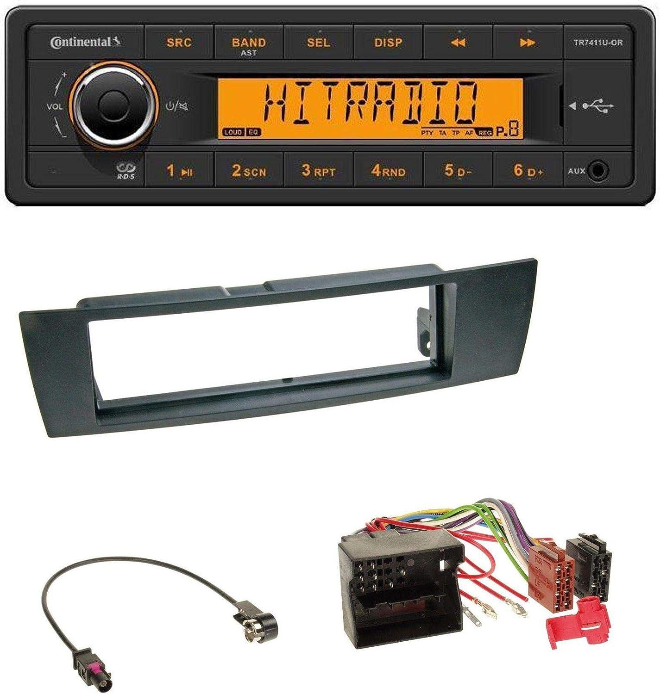 Caraudio24 Continental Tr7411u Or 1din Usb Aux Mp3 Autoradio Für Bmw 1er E87 3er E90 3 X1 E84 Z4 E89 Elektronik