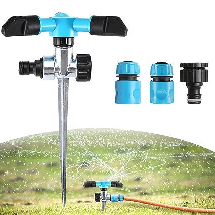 Sprühregner 360° Grad Rasensprenger Kreisregner Garten Sprinkler Bewässerung
