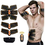 Muscle Toner,SUNWELL Abdominal Toning Belt, Abs Trainer Wireless Body Gym Workout Home Office Fitness Equipment for Abdomen/Arm/Leg Training Men&Women