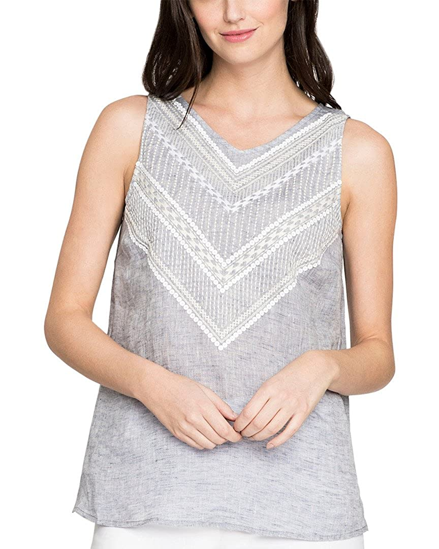 NIC+ZOE Womens Sandy Sequins Tank Top