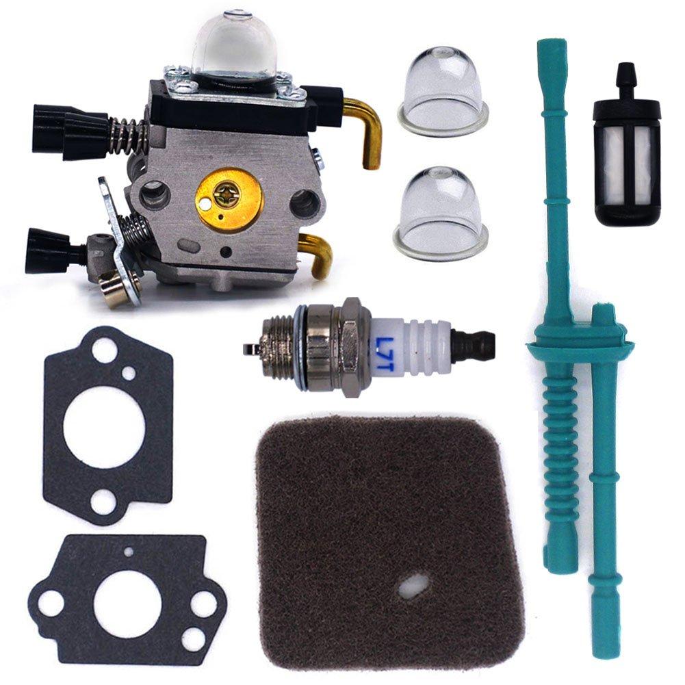 Carburetor Air Fuel Filter Fit STIHL FS38  FS76 FS80 FS85 C1Q-S66 C1Q-S71 Carb