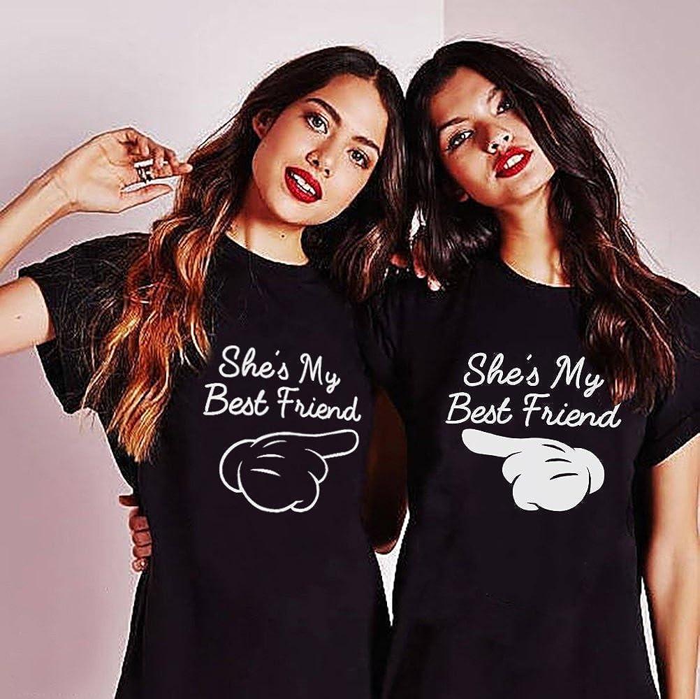 Best Friends Sister Tshirt für Zwei Damen Mädchen 2 Stücke Beste Freundin  BFF Freunde T- e46c1a48bc