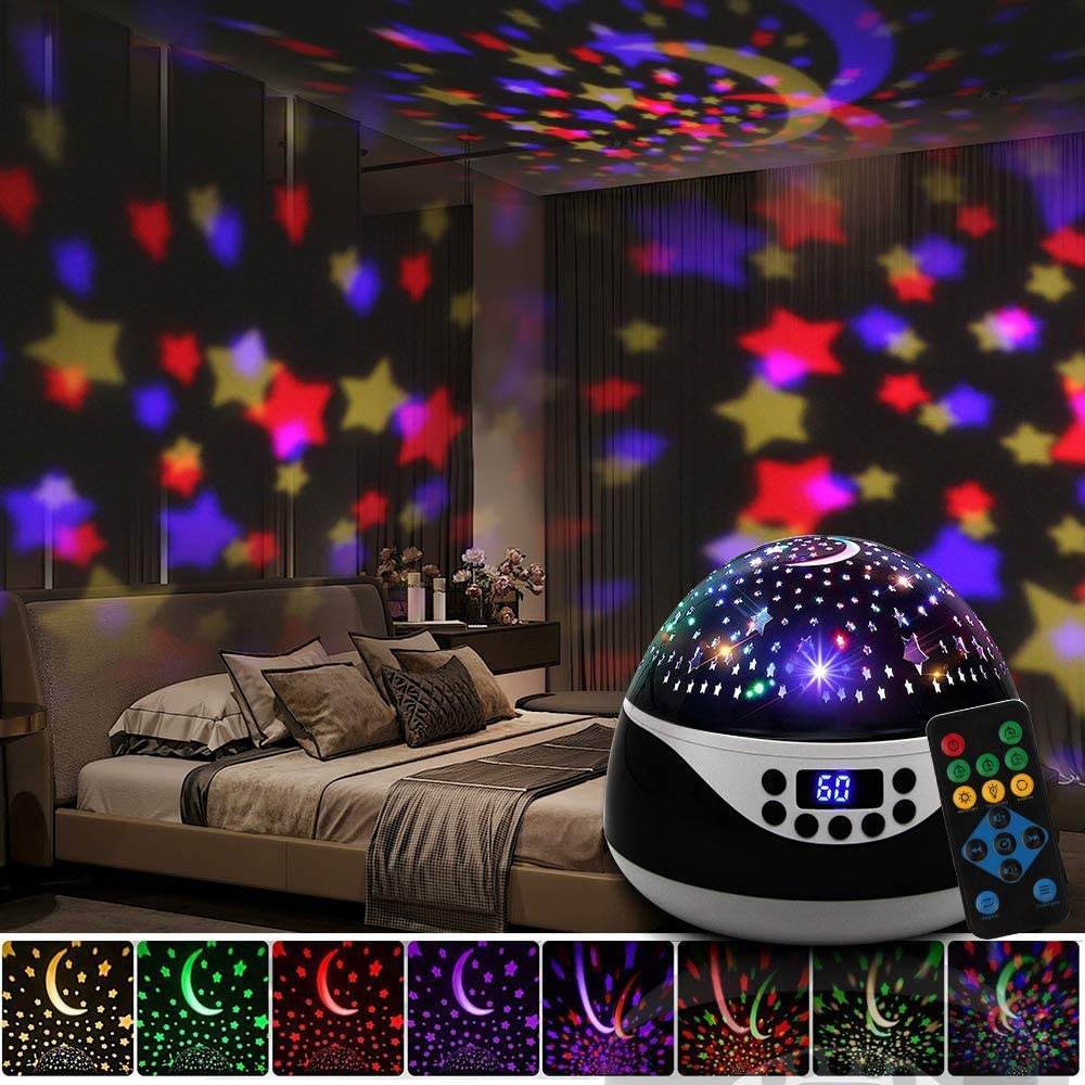 Star Projector Night Light for Kids,Baby Night Light Projector for Bedroom White Noice Machine
