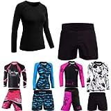 Roar No Gi Full Set Ladies Sports Bra BJJ Leggings MMA Shorts & Grappling Rash Guard Female Fight Wear (Only for Ladies)