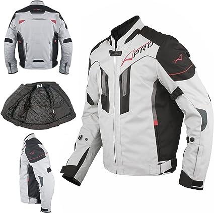 A Pro Textil Motorrad Jacke Wasserdichte Ce Protektoren Reflektirende Grau Xl Auto