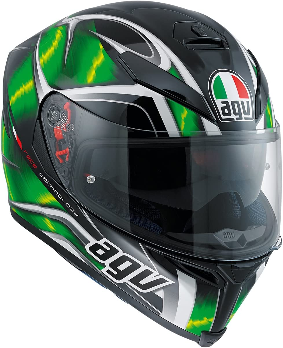 Hurricane Black//Green//White ML AGV Casco Moto K-5 S E2205 Multi PLK
