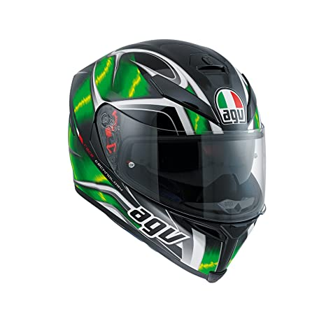 Amazon.es: AGV Casco Moto K-5 S E2205 Multi plk Hurricane, Black/Green/White, L