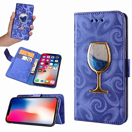 Amazon.com: iPhone X funda, Bling Glitter líquido copa de ...