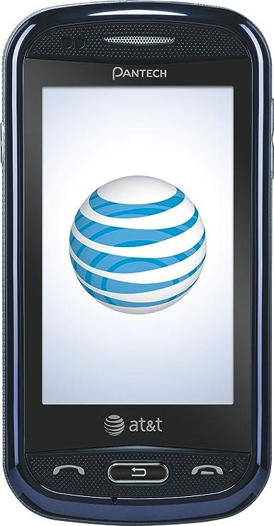 amazon com pantech laser phone blue at t cell phones accessories rh amazon com