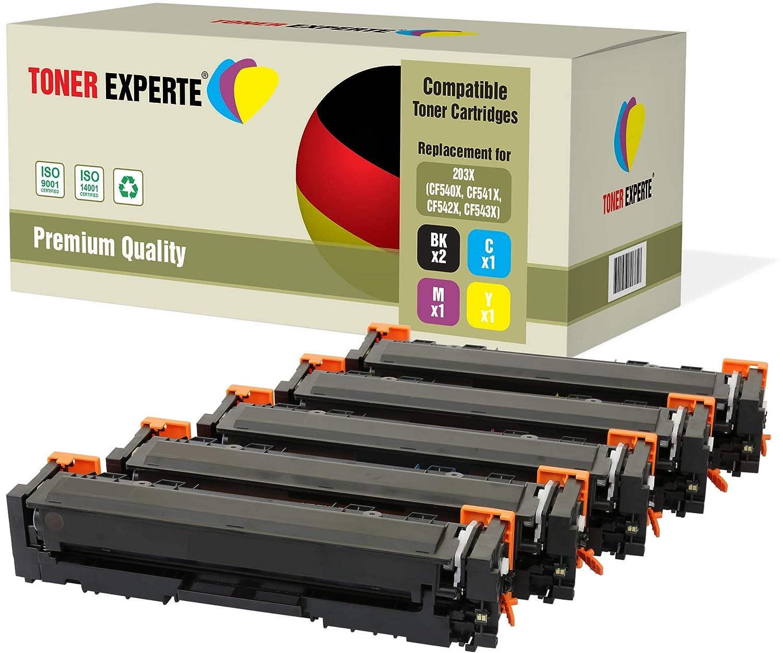 Pack de 2 TONER EXPERTE® Compatibles 203X CF540X Negro Cartuchos ...