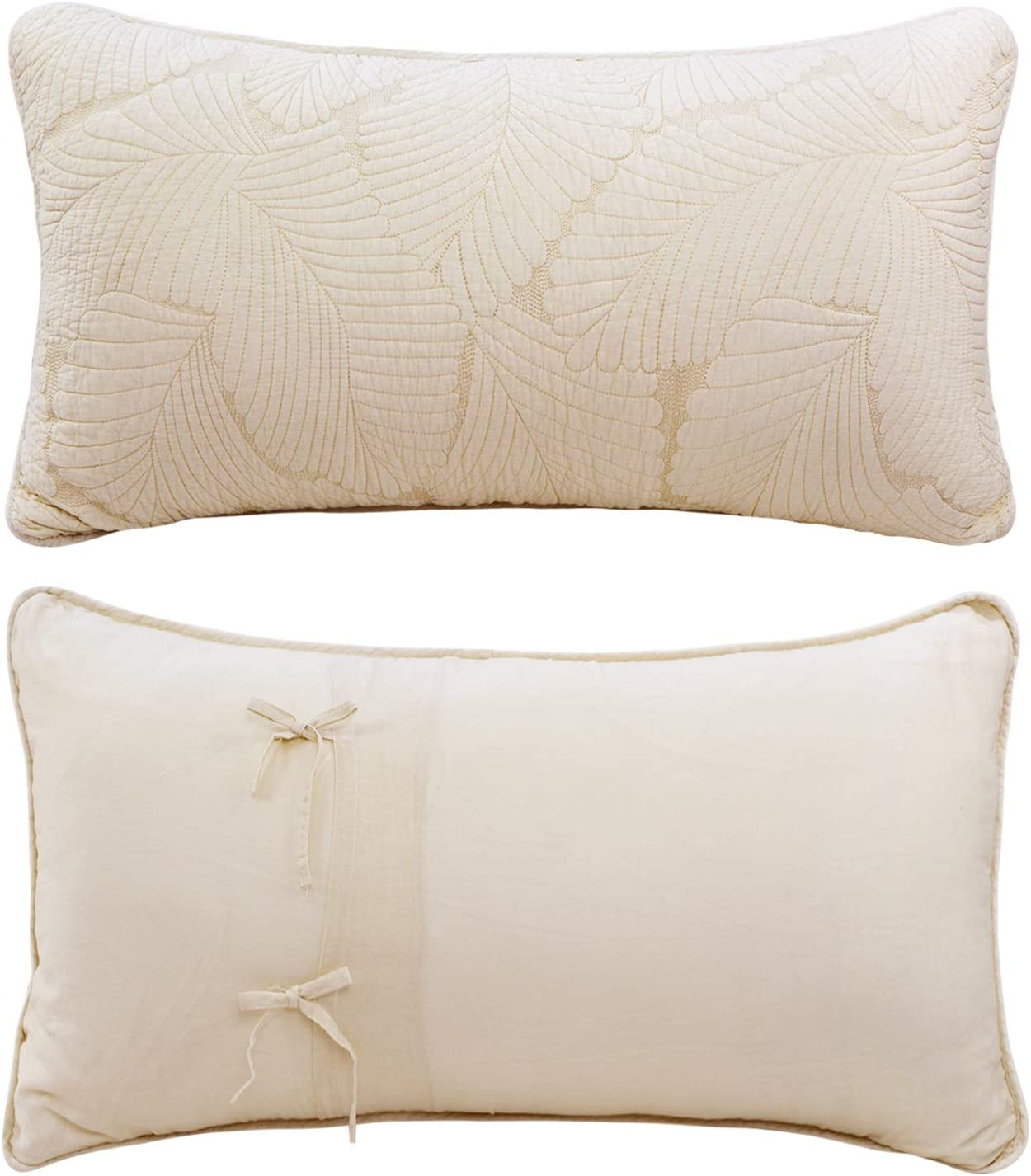 Simply Shabby Chic Set Of 2 King Size Pillow Shams Quilted White