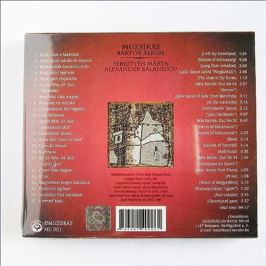 A Balanescu Muzsikas with M Sebestyen - Bartok album [Music CD] - Amazon.com Music