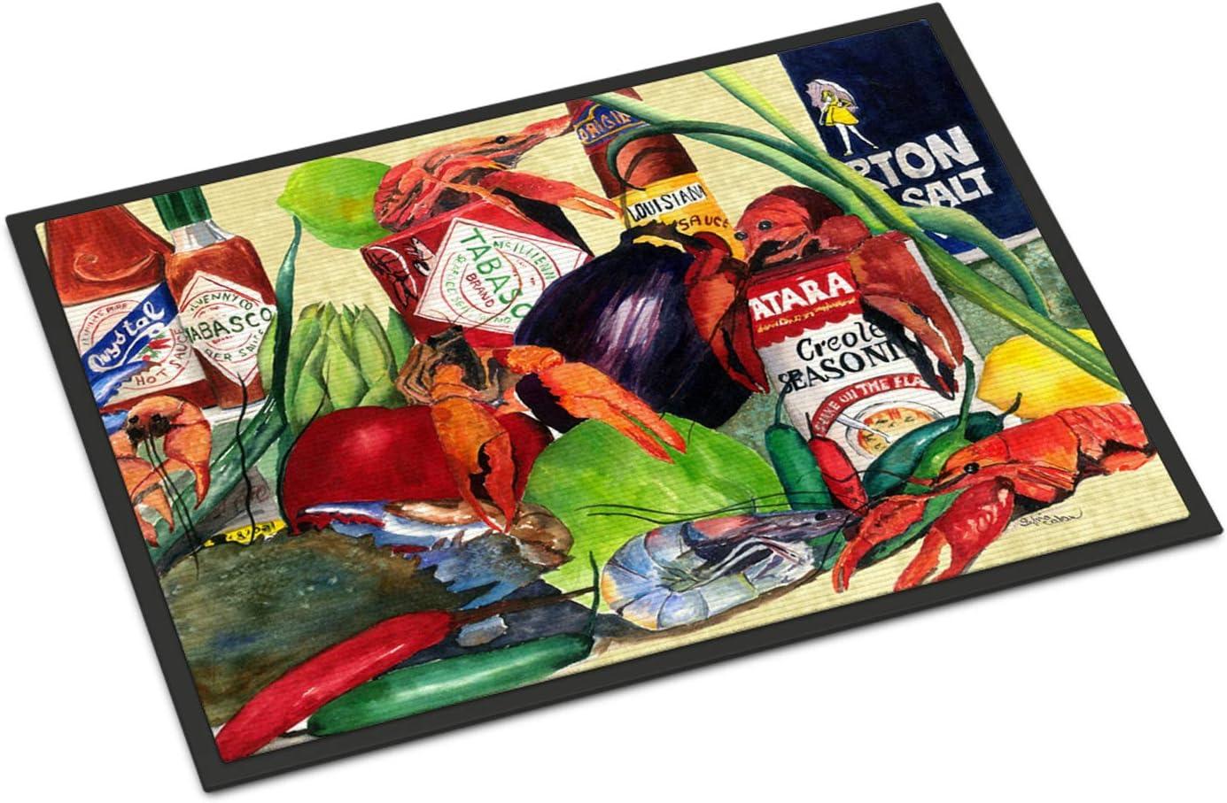 Caroline s Treasures 1020JMAT Spices and Crawfish Indoor or Outdoor Mat 24×36 Doormat, 24H X 36W, Multicolor