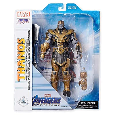 Figures Thanos Collector Edition Action Marvel Select by Diamond – 9'' – Marvel's Avengers: Endgame: Toys & Games