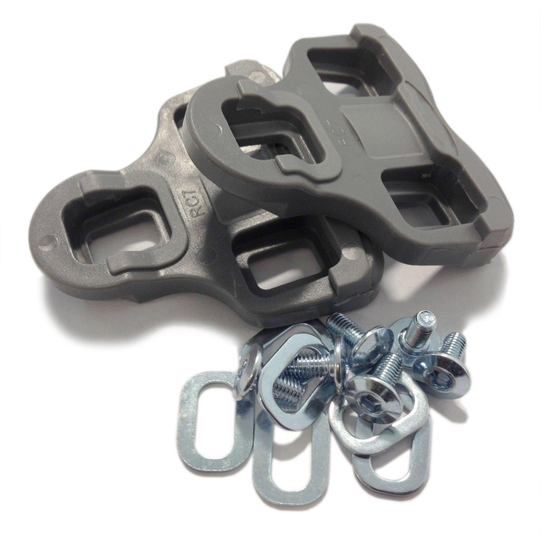 VeloChampion Look Keo Grip Pedal Cleats 9 Degree Float Grey by VeloChampion (Image #1)