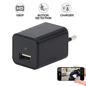 Cámara Espía Wifi LXMIMI USB Wall Charger Cámara Espía eléfono Adaptador Inalámbrico Cámara Nanny Cam Cámara de Vigilancia y Seguridad: Amazon.es: ...