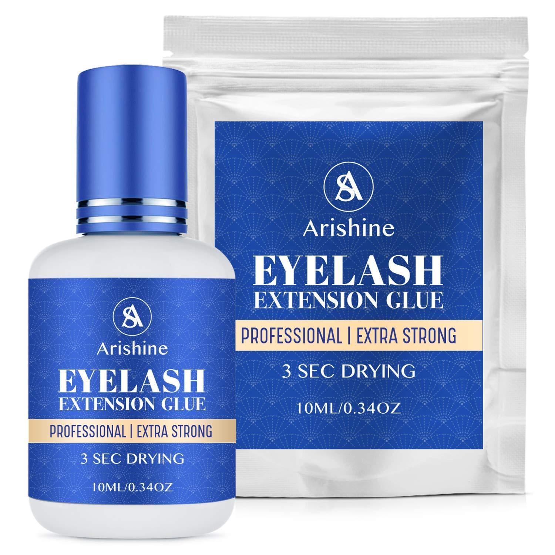 Arishines Extra Adhesive Eyelash Extension Glue - Best Professional Eyelash Glue