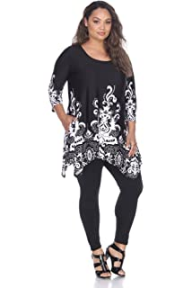 99cc58edc84 White Mark Women s Yanette Paisley Floral Print Tunic Top at Amazon ...