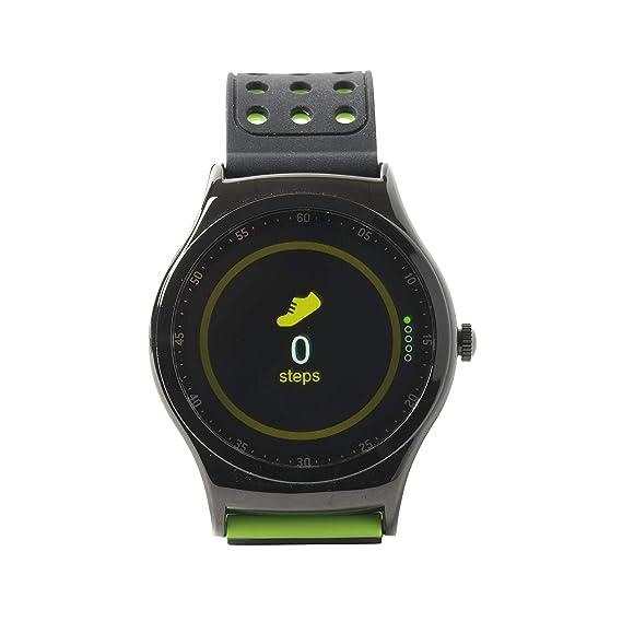 Denver SW de 450 Bluetooth de Deportes de Smart Watch con sensor de frecuencia cardíaca, negro/verde: Denver-Electronics: Amazon.es: Electrónica