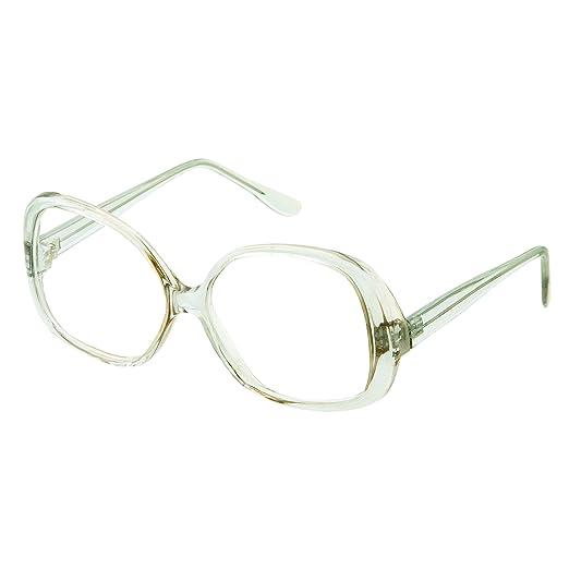 a8e7209961 Woman s Stylish Square Non-prescription Nerd Eyeglasses Fake Glasses Clear  Lens (Light Green Tint