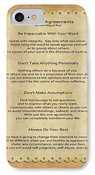 Amazon Iphone 8 Slim Case 41 The Four Agreements By Pixels