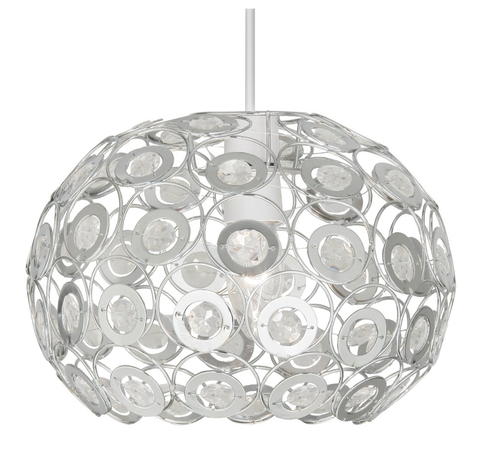 Oaks lighting tulsa with clear beads ceiling pendant fixtures amazon com