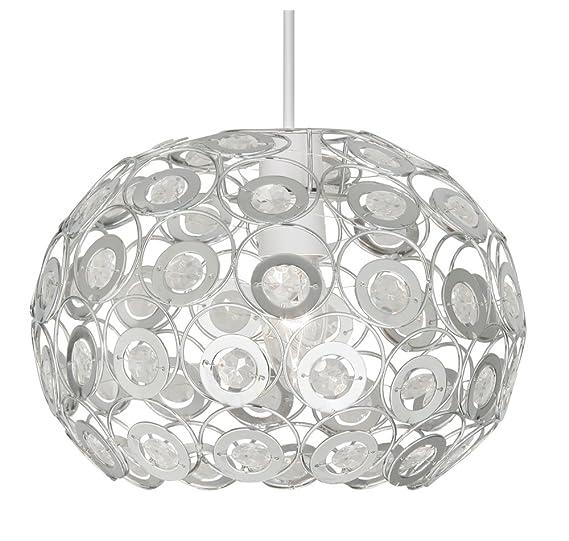 Amazon.com: Oaks Lighting Tulsa with Clear Beads: Home ...