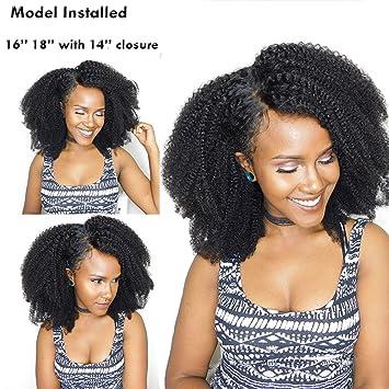 Amazon Com 14 Mongolian Afro Kinky Curly Hair Human Hair Bundles