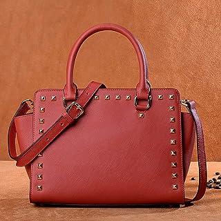 KERVINZHANG Echtes Leder Frauen Top Griff Satchel Handtasche Tote Umhängetasche Handtasche Crossbody Tasche (Color : Red)