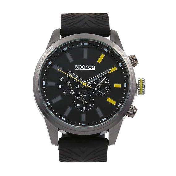 Sparco Reloj de Cuarzo Man Niki Negro 48 mm: Amazon.es: Relojes