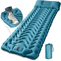Camping Sleeping Pad, MEETPEAK Extra Thickness 3.9 Inch Inflatable Sleeping Mat with Pillow Built-in Pump, Compact…