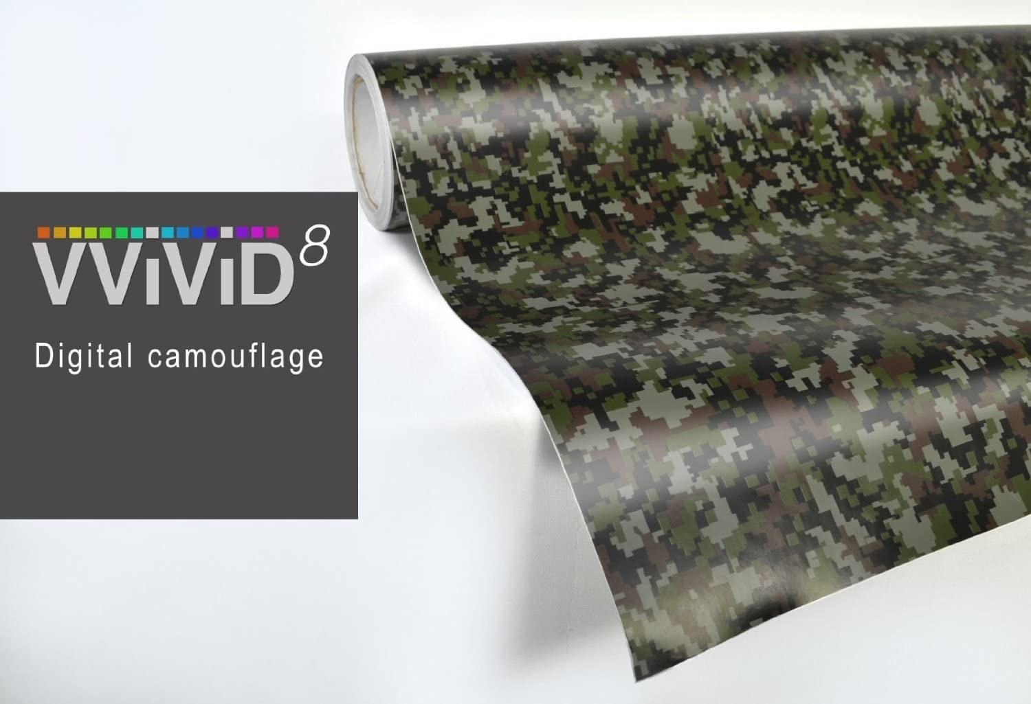 Modern Green Digital Camouflage Vinyl Wrap Roll with VViViD XPO Air Release Technology 3ft x 5ft