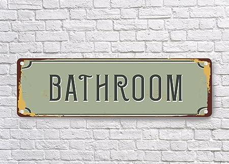 bathroom signs vintage style bathroom sign bathroom decor rh amazon co uk Vintage Bathroom Signs Funny Bathroom Signage