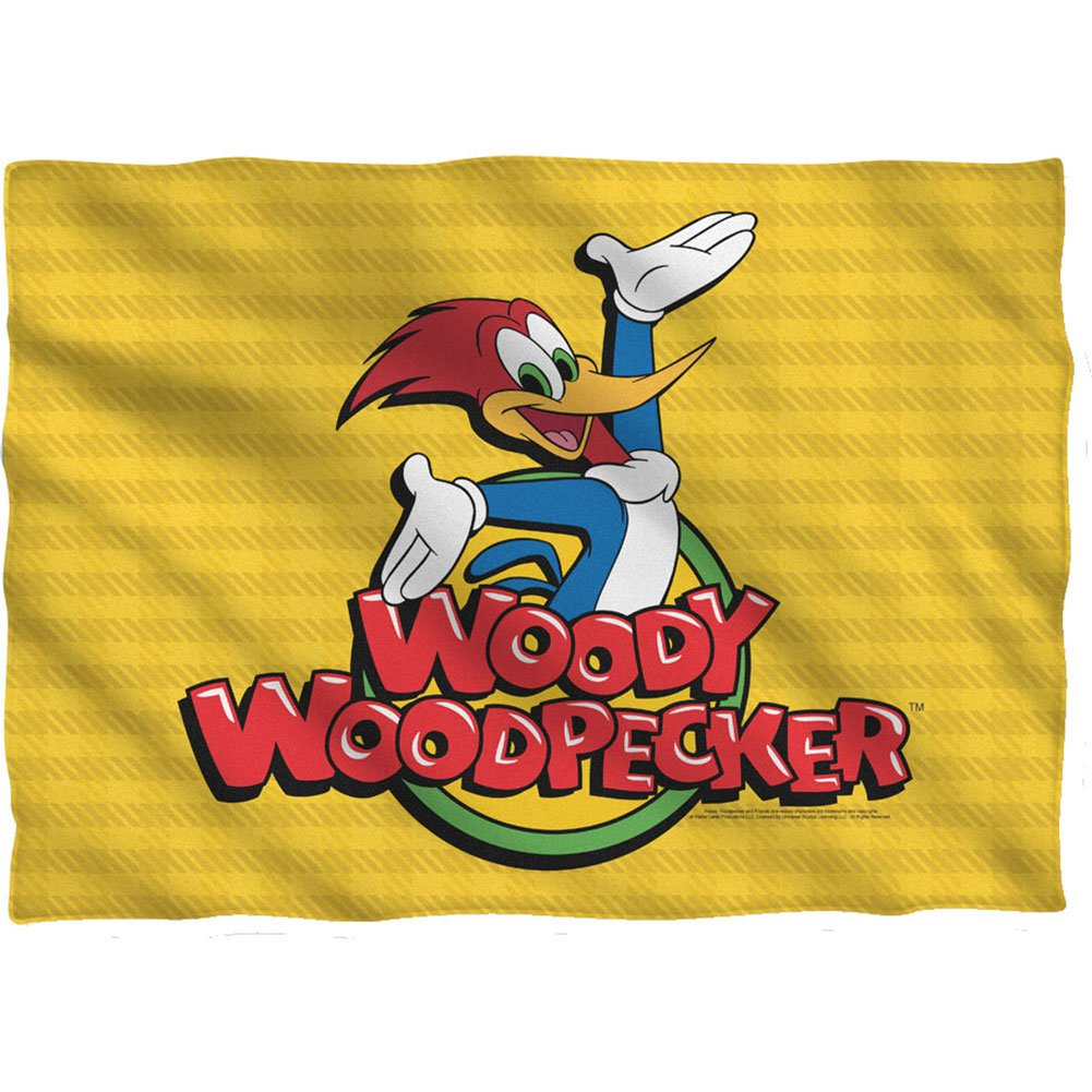 WOODY WOODPECKER WOODY-PILLOW CASE-WHITE-ONE SIZE 20 x 28 Polyester