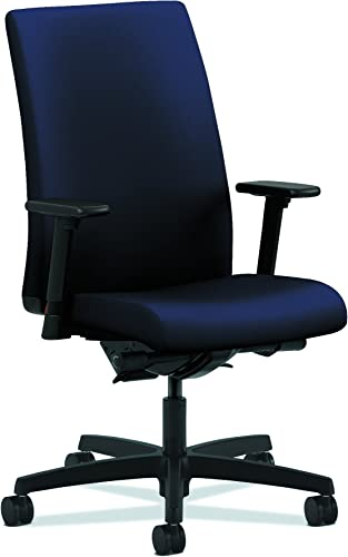 HON Ignition Series Mid-Back Work Chair – Upholstered Computer Chair for Office Desk, Navy HIWM3