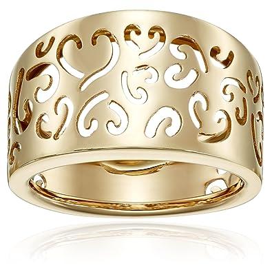 Amazon 14k Yellow Gold Fancy Heart La s Ring Size 7 Rings