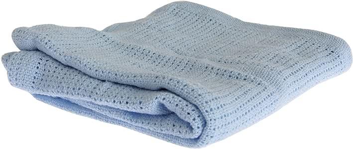 Mantita/Arrullo de punto de algodón para bebés niños y niñas (70 x ...