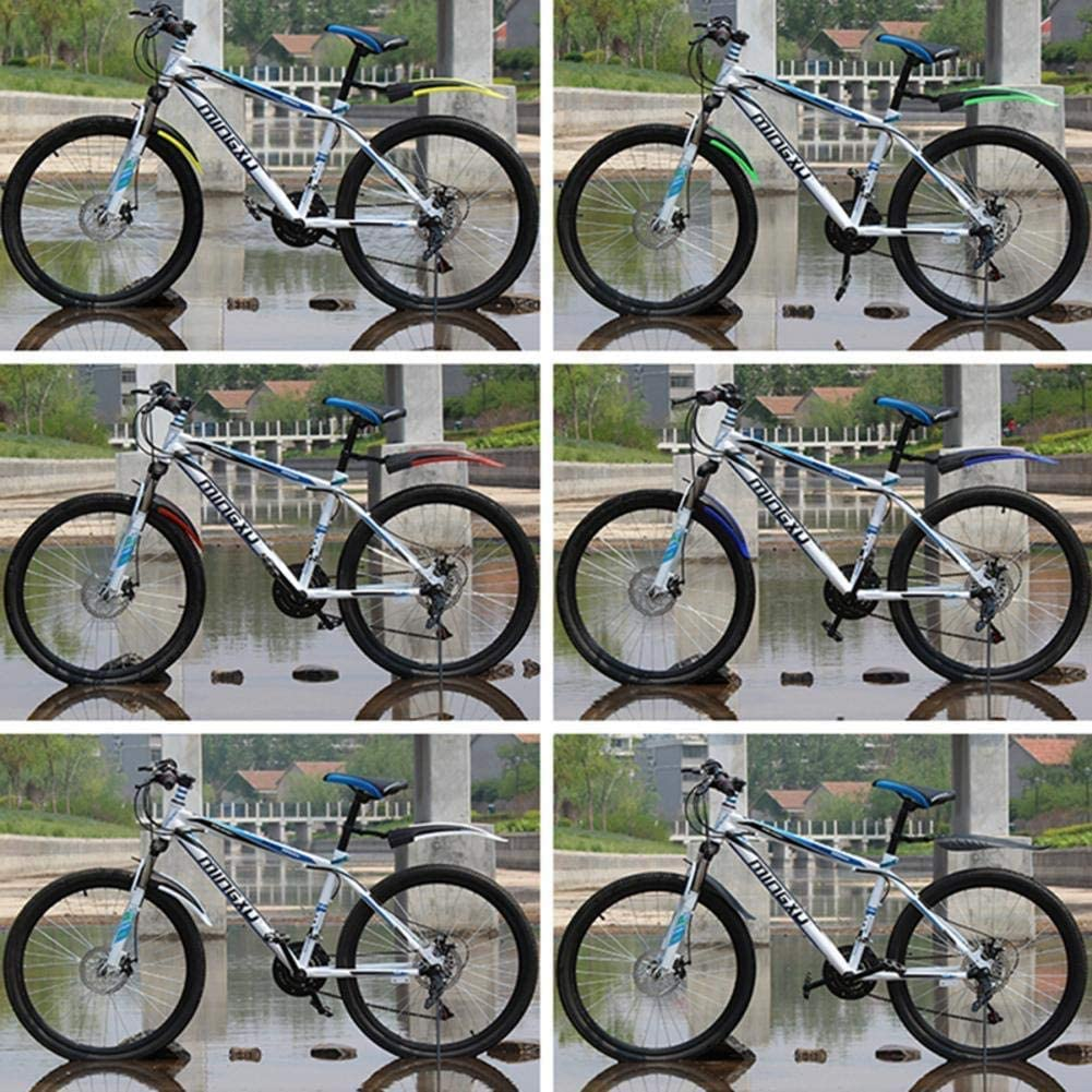 Akooya Bike Fenders Front and Rear Mudguard Set Universal Mountain Bike Fenders20-26 Inch,Give Installation Screws