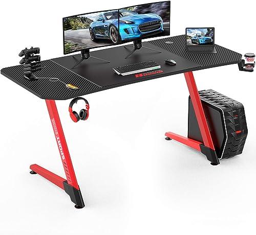 Vitesse 63 inch Gaming Desk Racing Style Computer Desk
