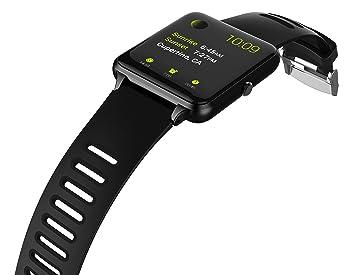 PRIXTON Smartwatch SWB24 - Reloj Inteligente con Pulsómetro, Monitor de sueño, Control Remoto de Cámara y Función Antipérdida, Color Negro
