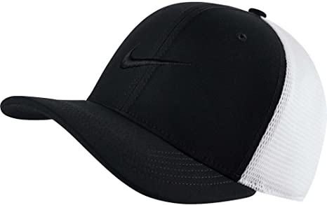 c2d9f04d92e Amazon.com   NIKE AeroBill Classic99 Training Cap (Black White Black ...