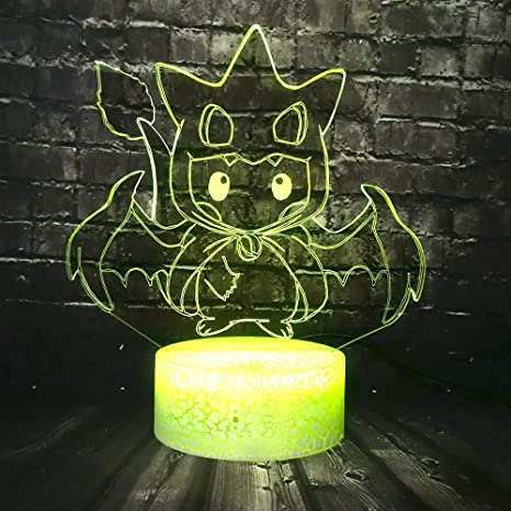 KangYD Dibujos animados Pokemon LED Night Light / 3D Sleep ...