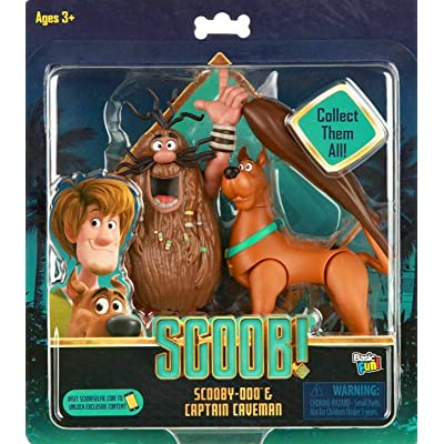 Scoob! Scooby-doo & Captain Caveman Exclusive Figure Set, Basic Fun!: Toys & Games