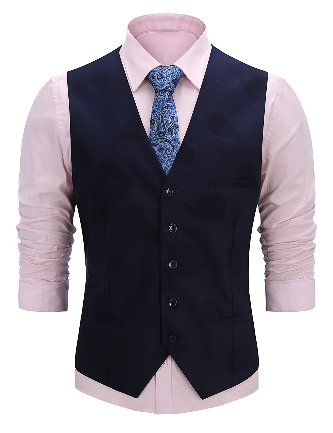 c608860a10f8 Material: 35% Cotton, 65% Polyester Two real pockets for your convenience,  adjustable back strap, very unique style. Men\'s fashion bussiness suit  vest, ...