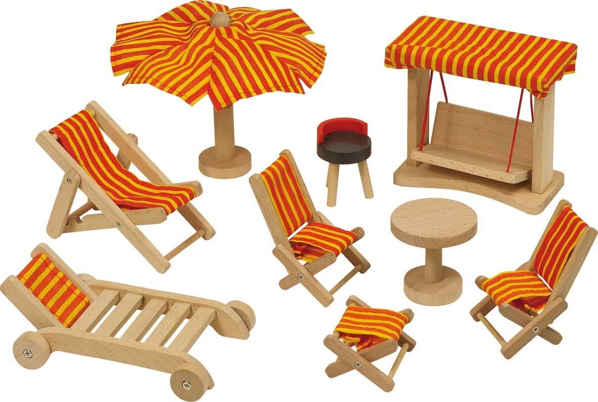 Goki Puppenhaus - Goki Gartenmöbel Puppenhausmöbel